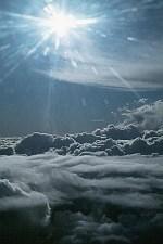felhők felett a nap