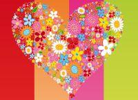 virágok, szív
